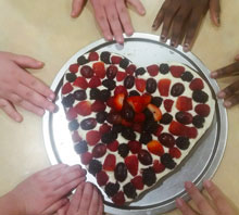 brownie cake with berries | coyotehill.org
