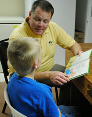 reading in the Education Center | coyotehill.org
