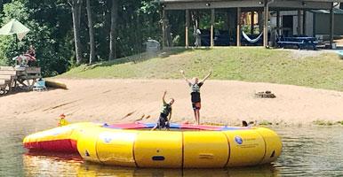 20' trampoline lake fun | coyotehill.org