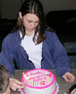teen girl with birthday cake | coyotehill.org