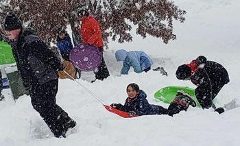 the joy of sledding | coyotehill.org