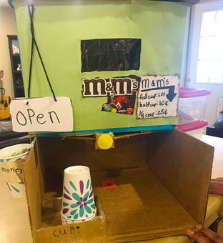 candy dispenser cardboard ingenuity