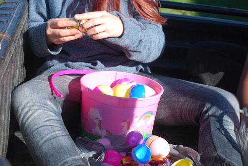 girl with easter bucket stash | coyotehill.org