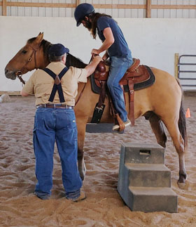 Veteran participates in Equine Therapy | coyotehill.org