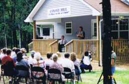 Dedication of first home, Cathy's Home