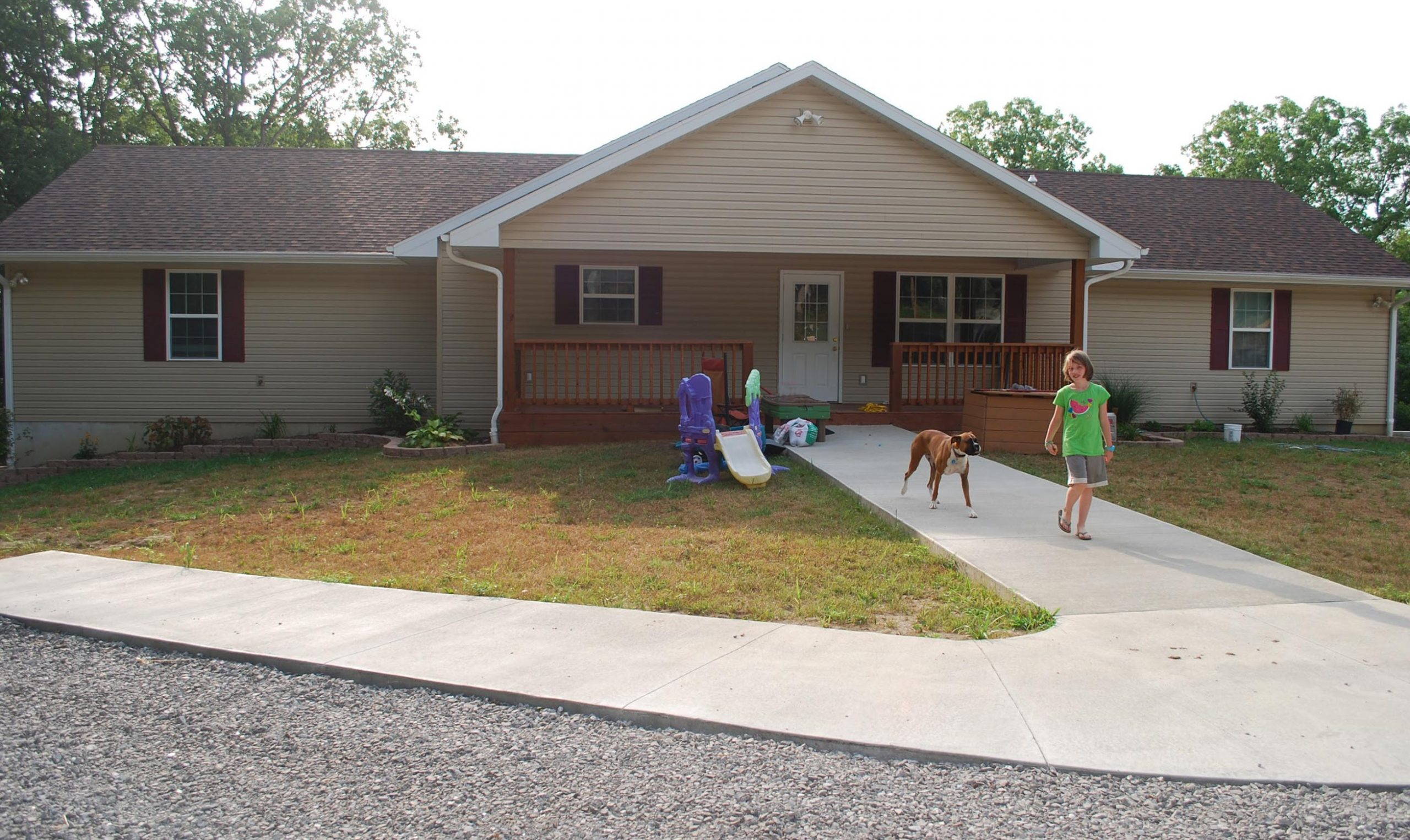 The Wright Home, our fourth home, is completed.