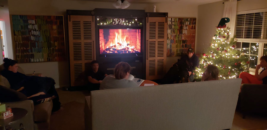 Advent reading in The Petersheim Home | coyotehill.org