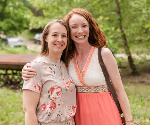 Mary Vassar with Development Director Kelly Myers | coyotehill.org