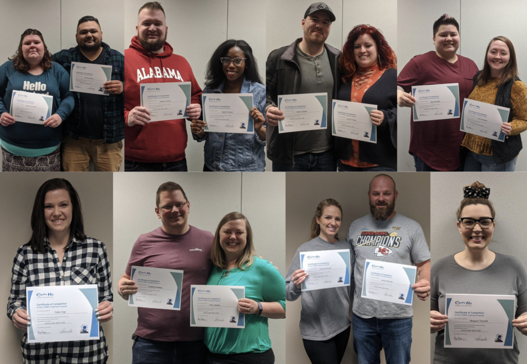 Eight families graduated from Coyote Hill STARS training on Saturday, March 14.   coyotehill.org