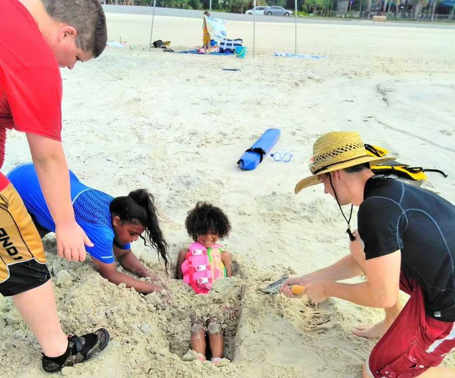Children with Home Parent Dad at beach | coyotehill.org