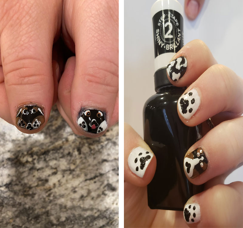 girl in The Wright Home paints designs on nails | coyotehill.org